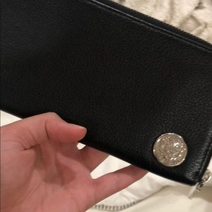 vince Camuto black leather wallet